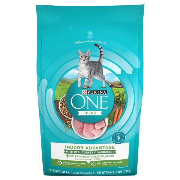 Purina One Cat Food, Premium, for Adult 1+, Indoor Advantage