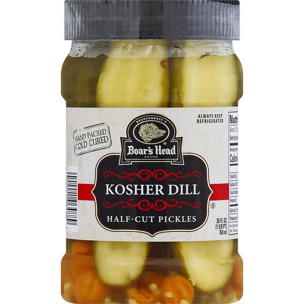 Boars Head Pickles, Half-Cut, Kosher Dill