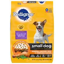 Pedigree Food for Dogs, Roasted Chicken, Rice & Vegetable Flavor, Small Dog Complete Nutrition, Adult