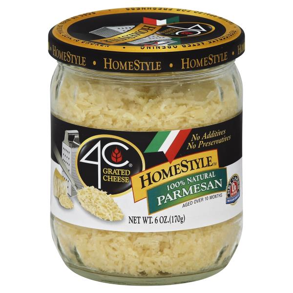 4C Homestyle Cheese, Grated, Parmesan