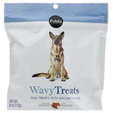 Publix Dog Treats, with Bacon, Wavy Treats