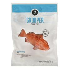 Publix Grouper Fillets, Frozen, Wild