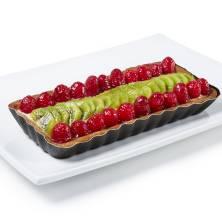 Oblong Raspberry Kiwi European Cream Tart