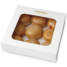 Mini Raspberry- Filled Donuts 9-Count