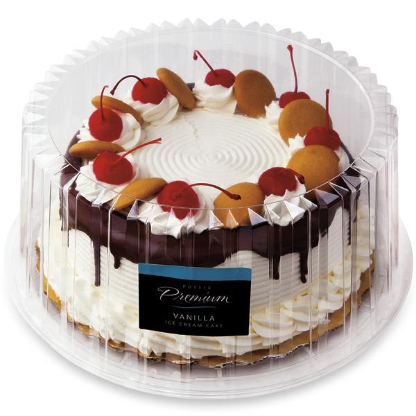8 In Premium Vanilla Ice Cream Cake Publix