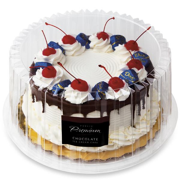 8 In Premium Chocolate Ice Cream Cake