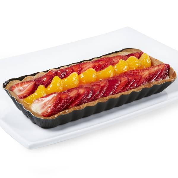 Oblong Strawberry Orange European Cream Tart