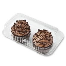 Chocolate Jumbo Cupcake Filled with Fudge 2ct