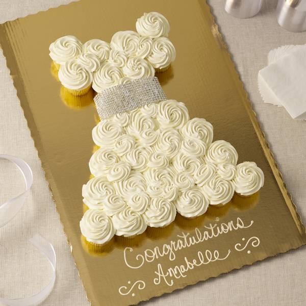 White Dress Pull A Part Cupcakes 28 Count Publix