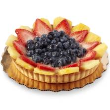 Round European Cream Pineapple Berry Tart