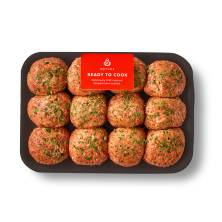 Aprons Seasoned Meatballs, Made from Seasoned Ground Chuck Prepared Fresh In-Store