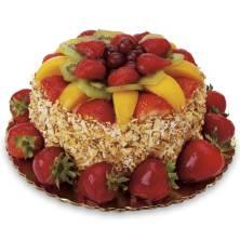 Strawberry & Peach Sensation Cake