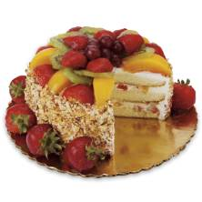 Strawberry & Peach Sensation Cake