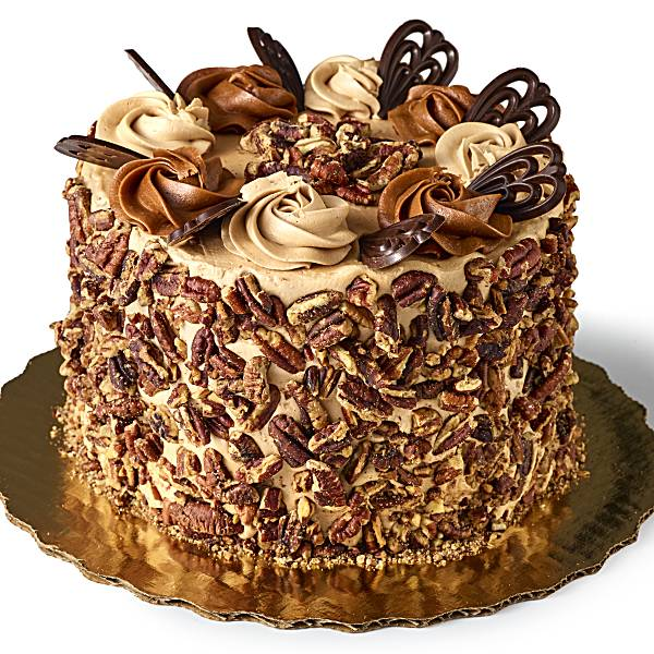 Caramel Pecan Crunch Cake