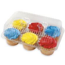 Buttercream Iced Vanilla Cupcakes, 6-Count