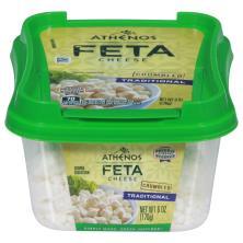 Athenos Crumbled Cheese, Feta, Traditional