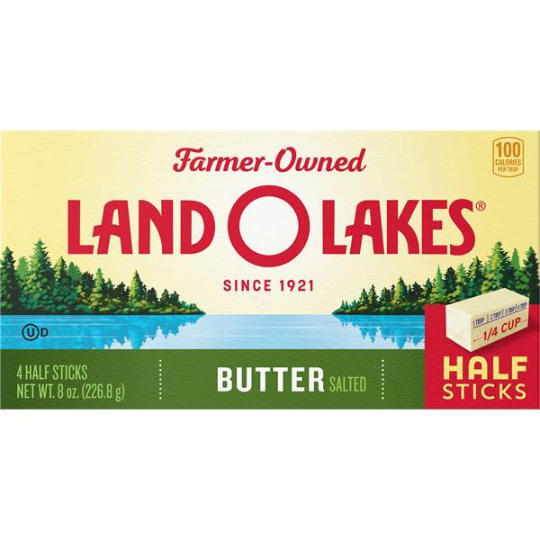 Land O Lakes Butter, Salted, Half Sticks