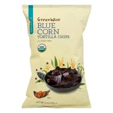 GreenWise Tortilla Chips, Organic, Blue Corn