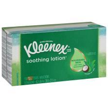 Kleenex Tissues, Lotion Aloe & E, White, 2-Ply