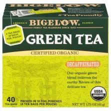 Bigelow Green Tea, Decaffeinated, Bags