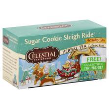 Celestial Seasonings Herbal Tea, Caffeine Free, Sugar Cookie Sleigh Ride, Holiday Tea, Bags