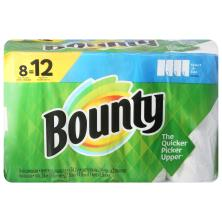 Bounty Paper Towels, Giant Rolls, Select-A-Size, White, 2 Ply