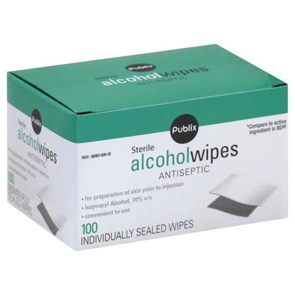 Publix Alcohol Wipes, Sterile, Antiseptic : Publix com