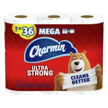 Charmin Ultra Strong Bathroom Tissue, Mega, Unscented, 2-Ply