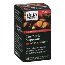 Gaia Curcumin Synergy Turmeric Supreme, Extra Strength, Vegetarian Liquid Phyto-Caps