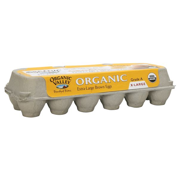 Organic Valley Organic Brown Eggs, Extra Large Grade A