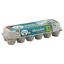 Organic Valley Eggs, Organic, Brown, Free Range, Extra-Large