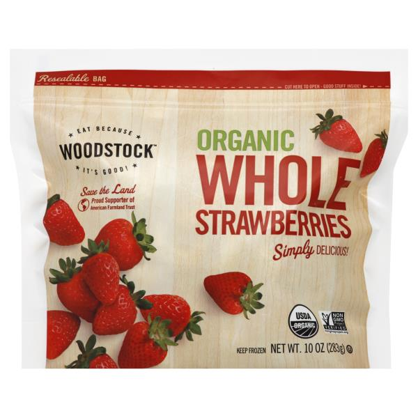 Woodstock Strawberries, Whole, Organic