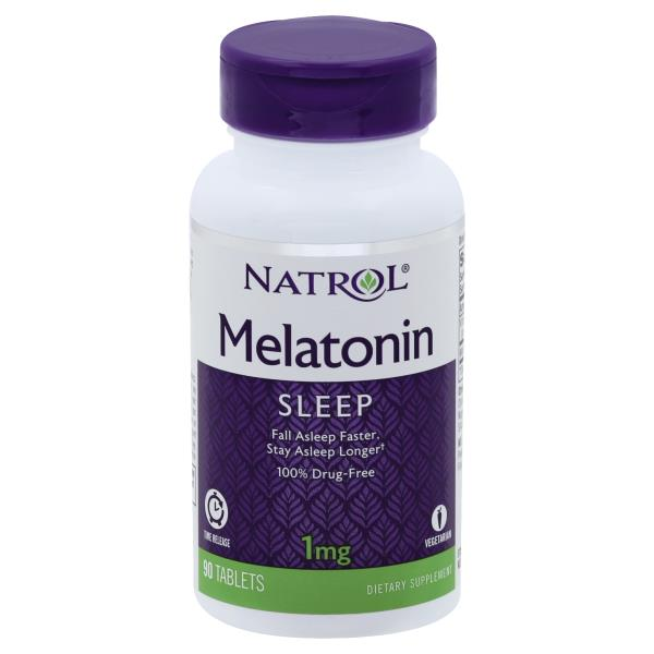 Natrol Melatonin, Time Release, 1 mg, Tablets