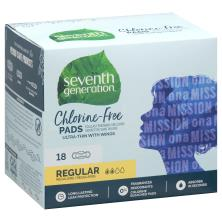 Seventh Generation Pads, Chlorine Free, Regular, Ultra-Thin, with Wings, Free and Clear