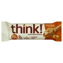 ThinkThin High Protein Bar, Creamy Peanut Butter, Chocolate Dipped
