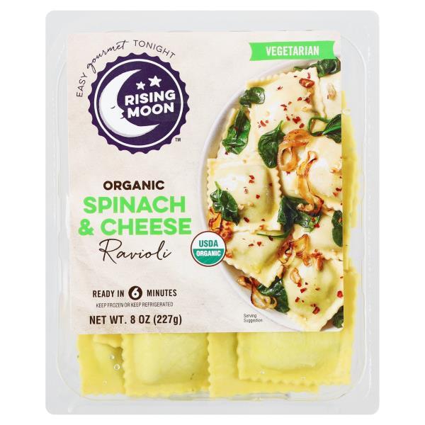 Rising Moon Organics Ravioli, Spinach & Cheese
