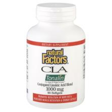Natural Factors Conjugated Linoleic Acid Blend, CLA Tonalin, 1000 mg