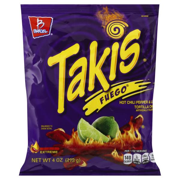 Barcel Tortilla Chips Hot Chili Pepper Lime Takis Extreme