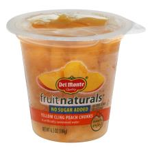 Del Monte Fruit Naturals Peach, Yellow Cling, Chunks, No Sugar Added