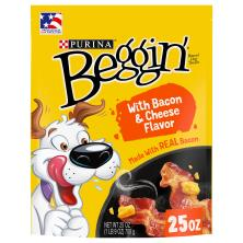 BEGGIN' Strips Dog Treats, Bacon, Adult