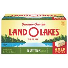 Land O Lakes Butter, Salted, Half Sticks