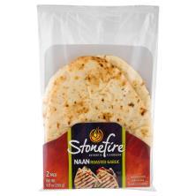 Stonefire Naan, Roasted Garlic, 2 Pack