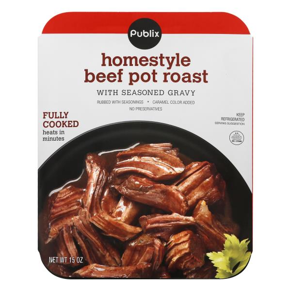 Publix Homestyle Beef Pot Roast, Seasoned Gravy Fully Cooked