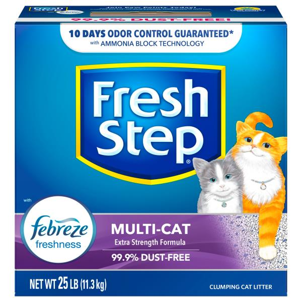 Fresh Step is a brand that has been around the block, they're one of the big guns of the cat litter world – and they've got the product range to prove it. Over the years they've managed to release products in almost every subsection of the cat litter market, ensuring that they're able to meet the needs of all customers, and all kitties.