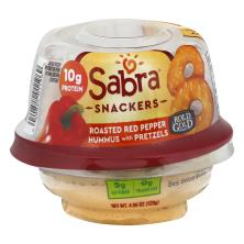 Sabra Hummus, with Pretzels, Roasted Red Pepper
