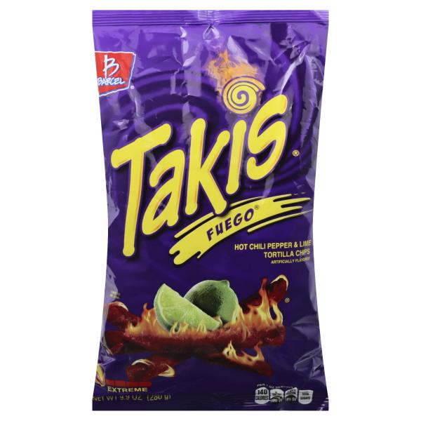 Takis Tortilla Chips Fuego Hot Chili Pepper Lime Extreme