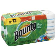 Bounty Paper Towels, Giant Rolls, Full Sheets, Print, 2 Ply