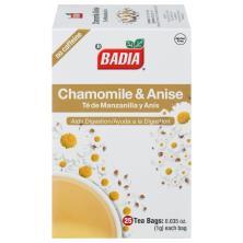 Badia Tea, Chamomile & Anise, No Caffeine, Tea Bags