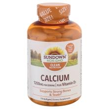 Sundown Naturals Calcium, 1200 mg, Plus Vitamin D3, Softgels