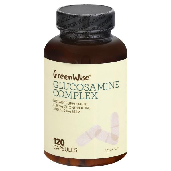 GreenWise Glucosamine Complex, with Chondroitin + MSM, Capsules